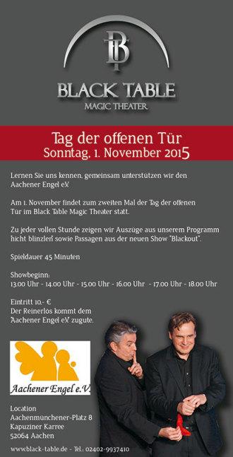 Tag der offenen Tür Zaubertheater Aachen
