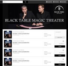 Neugestaltung Ticketshop Black Table Magic Theater